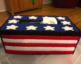USA Flag Tissue Box