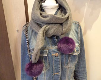 Tassel scarf handmade