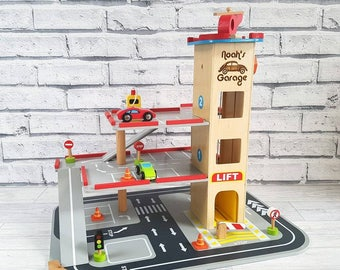 Wooden Child's Garage and Cars - 00028