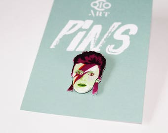 David Bowie PIN - legendary musician/guitarist, pin collector, music pin, rock and roll, ,star man, gift, purple haze, badge, ziggy stardust