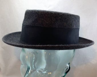 Vintage Pork Pie Style Hat from Chapeau Corot, Dickerson and Co. Detroit with Original Price Tag    01756