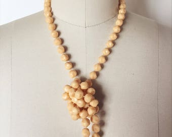 Long Strand of Peachy Vintage Beads
