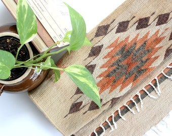 Woven Area Rug, Mexican Wall Hanging, Bohemian Style Home Decor