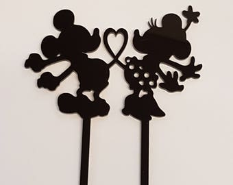 Acrylic Cake Topper - Mickey and Minnie Inspired - Laser cut