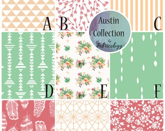 Fabric Sample / Fabric Swatch / Fabric Matching / Austin Collection by Fabricology / Baby Girl Nursery
