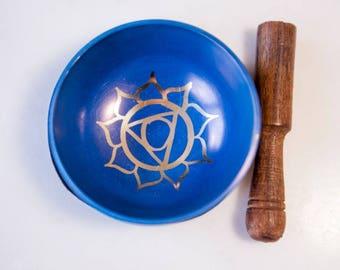 Tibetan Singing Bowl/ Singing Bowl/ Throat Chakra Singing Bowl/ Chakra Singing Bowl