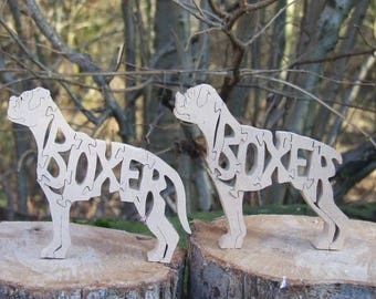 Boxer jigsaw, Boxer puzzle, Boxer ornament, Boxer gift, gift for Boxer lover, unique Boxer gift, Boxer memorial,