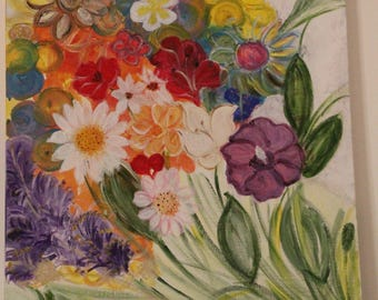 Figurative flowers painting
