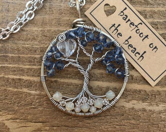 Barefoot On The Beach, Twisted Tree of Life pendant (adjustable length)