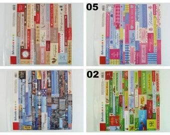 Planche Stickers 30x30cm Artemio theme au choix Scrapbooking Carterie Déco Étiquettes Noel Bébé Naissance Amour Famille Cuisine Voyage Paris