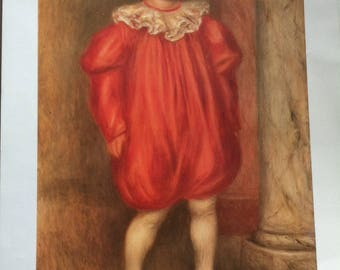 "RENOIR image to frame ""clown"" 1909"