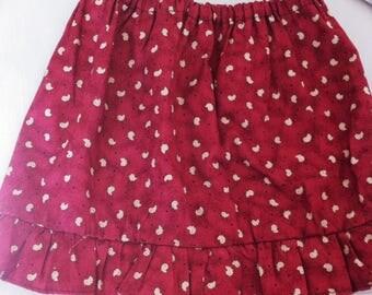 skirt fabric chick pattern