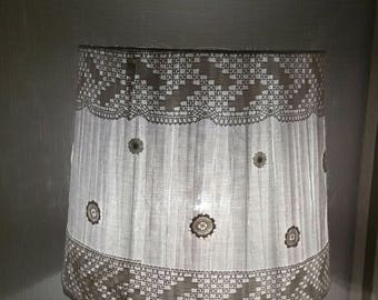 large white lace Lampshade