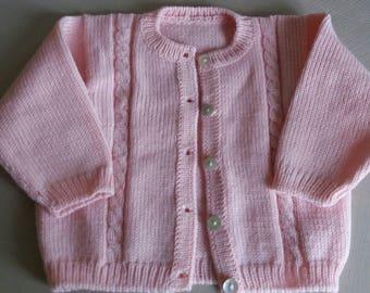 Pink jacket Cardigan size 3 months