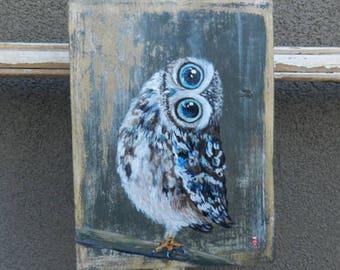 Owl gifts, Owl decor, Owl art, Owl decoration, Owl wall art, Owl painting, Original Owl painting, Owl lover, Owl wall decor, Owl wood sign