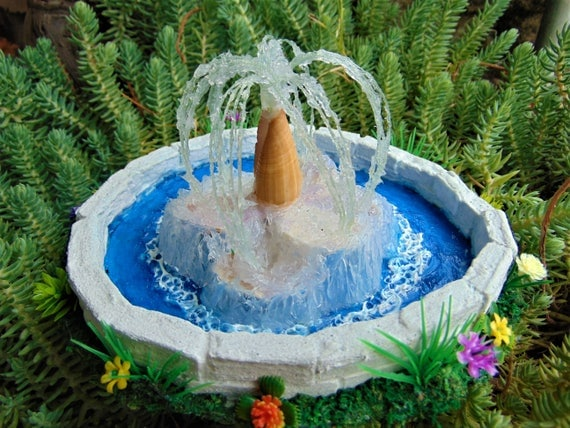 Fairy Garden Miniature Garden Fountain, Dollhouse Fountain,Miniature Garden  Fountain, Fairy Garden Accessories,Terrarium, Sea Shell Fountain