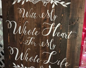 Wedding-Anniversary-Bride-Groom-Decoration-Sign-Pallet Board-Wall Art-Rustic-Barnwood Decor-Country-Reclaimed Wood-Hand Painted