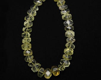 Approx 30pcs,Polished Faceted Yellow Crystal Nugget Loose Beads,for Pendant Necklace Making,Fashion Jewelry Supplies