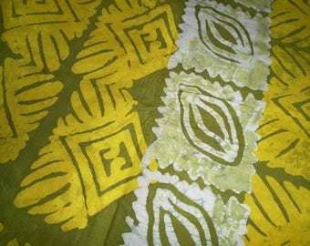 African Batik, Hand Dyed in Ghana, by the half yard