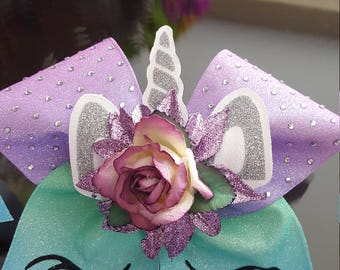Sublimated Unicorn Cheer Bow