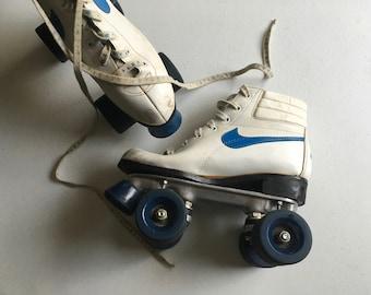 Nike Roller Skates Royal Blue White Size 6 1970's