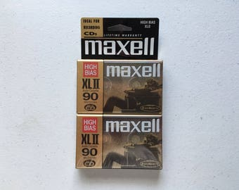 Maxell XL II 90 Audio Cassette Blank 2 Pack Sealed