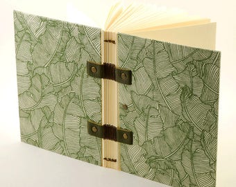 Diary or writing notebook, A6 size, Coptic binding, notes, book pregnancy notebook, notebook with original