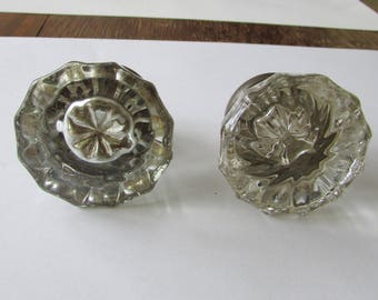 2 Vintage Glass Doorknob Door Knob Nice Design