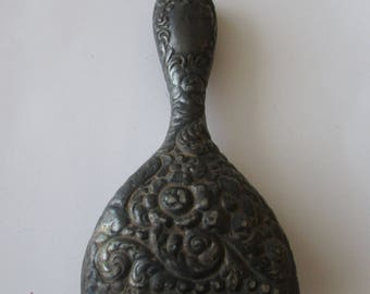Vintage Silver Plate Brush Handle Holder Repurpose Art Nouveau
