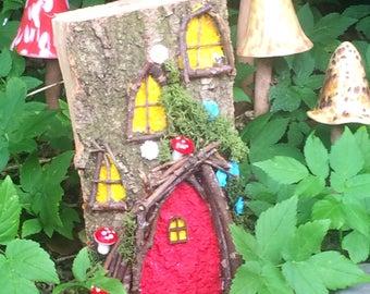 Small Wooden Fairy House ~ Fairy Garden ~ Fairies ~