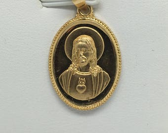 18K Yellow Gold Jesus Pendant