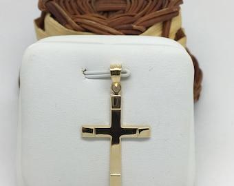 14K Yellow Gold Crucifix Pendant