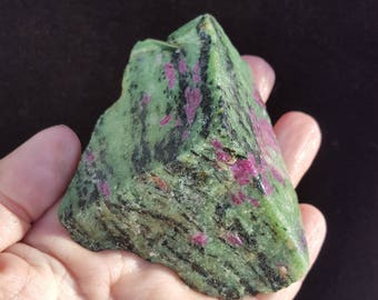 Rough Ruby in Zoisite