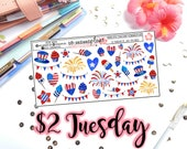 Tuesday's 2's- 4th of July Deco | Planner Stickers | Perfect for any planner