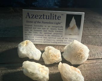 Beautiful Rare Golden Aura Azeztulite High Vibration crystal
