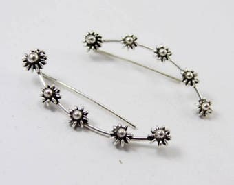 Plain 925 Sterling Silver Earring Handmade Jewelry