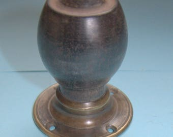 Stand alone rosewood and brass door knob