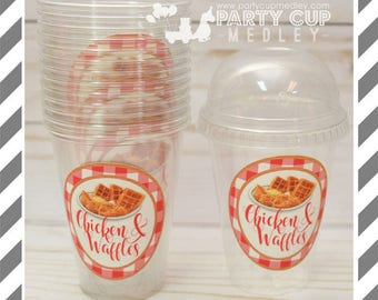 Breakfast Favor Cups with Dome Lids or Party Cups, Lids & Straws