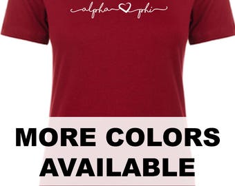 Signature Alpha Phi Tee  Official Greek Licensed