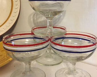 Set of Vintage Cocktail glasses.