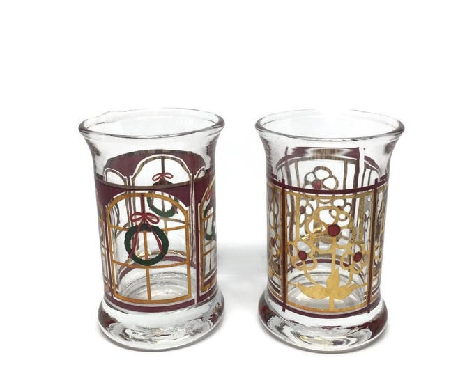 Christmas Dram Glasses Made in Denmark by Holmegaards 1995
