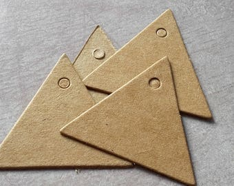 3.5 cm cardboard kraft label triangle wedding christening gift tags, labels name brand square gift tag
