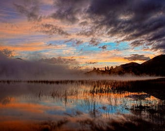 Sunrise Photography, Lake Placid, Whiteface Mountain, Adirondack Mountains, Adirondack Fine Art, Sunrise Print, Connery Pond Sunrise Photo