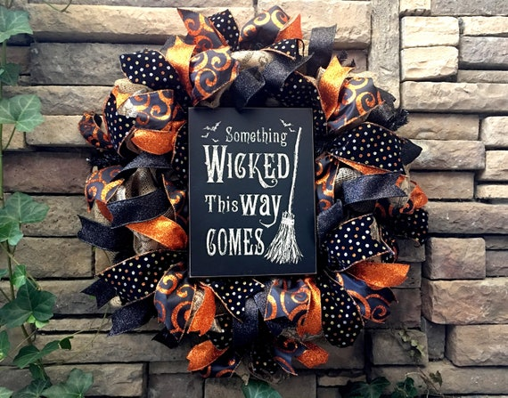 Halloween Wreaths, Witch Wreath, Halloween Decor, Halloween, Witch Decor, Wicked Witch Wreath, Halloween Witch, Trick or Treat, Fall Decor