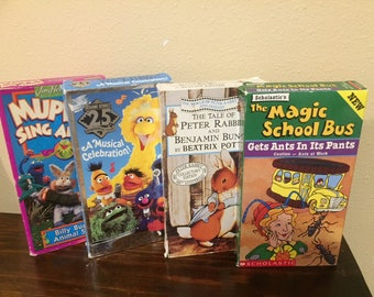 Lot of 4 Children's movies - Muppets, Magic School Bus, Beatrix Potter