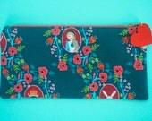 ON SALE! Alice in Wonderland Pencil Case - Green