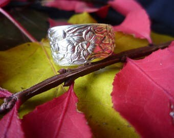 "Handmade Vintage Spoon Ring ""Narcissus"" Pattern 1935"