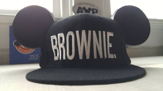 Mickey Hat. Brownie.