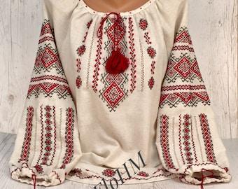 Handmade Embroidered Ukrainian Blouse Vyshyvanka