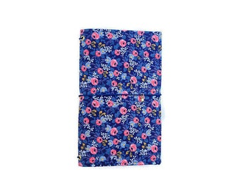 Floral Notebook Cover Travelers Notebook Fabric Fauxdori Gifts for Gardeners Gifts for Travelers Rifle Paper Co Rifle Journal Midori NELLIE